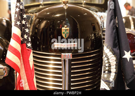 Historical Presidential cars at the Henry Ford Museum in Dearborn, in Detroit, Michigan, USA - Stock Photo