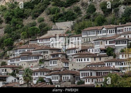 Berat city of 1000 windows in Albania