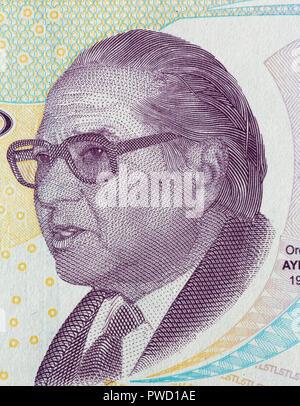 5 lira banknote, Mustafa Kemal Ataturk, Turkey, 2009 - Stock Photo