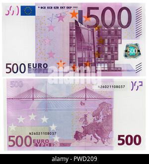 500 Euro banknote, 2002 - Stock Photo