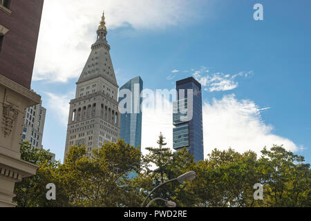 New York City, USA - October 10, 2017: View of the Metropolitan Life Clocktower in New York, USA. - Stock Photo