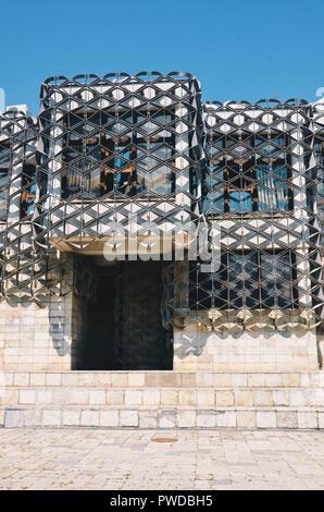National Library of Kosovo (by Andrija Mutnjaković), Pristina, Kosovo, Balkans, September 2018 - Stock Photo