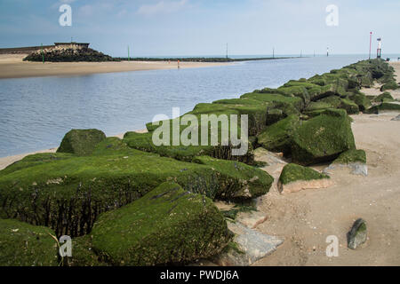 Trouville-sur-Mer promenade, Normandy, France - Stock Photo