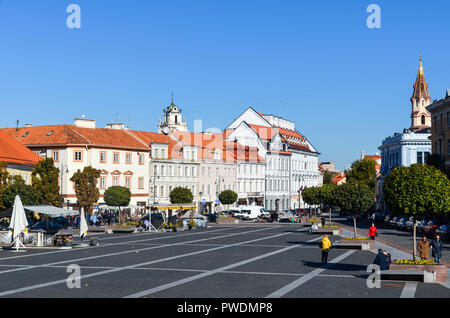 Town Hall Square, Vilnius, Lithuania - Stock Photo