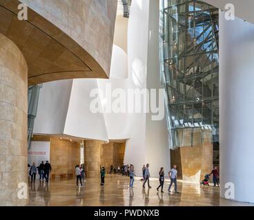 Foyer of the Guggenheim Museum, Bilbao, Basque Country, Spain