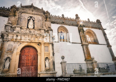 Facade of the main church of Medina Sidonia, a beautiful village in the province of Cadiz, in Andalusia, Spain - Stock Photo