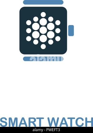Smart Watch icon in two colors design. Premium style from smart devices icon collection. UI and UX. Illustration of smart watch icon. For web design,  - Stock Photo