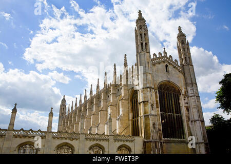 KIng's College Chapel from King's Parade, City of Cambridge, Cambridgeshire, England - Stock Photo