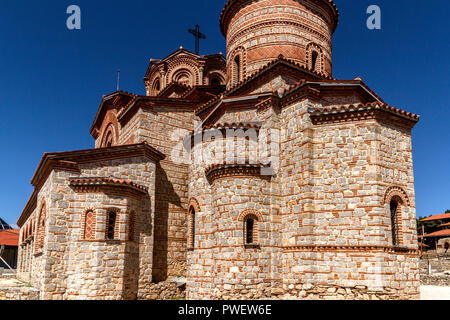 Church of Saints Clement and Panteleimon in the town of Ohrid in Macedonia - Stock Photo