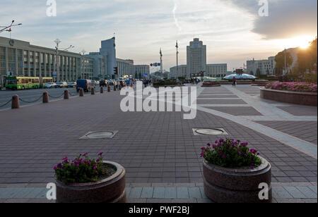 Independence Square, Minsk, Belarus - Stock Photo
