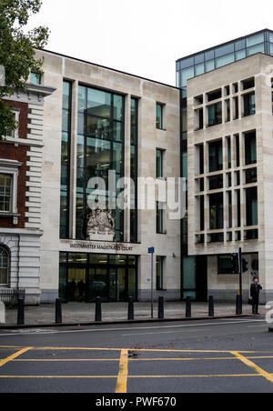 Westminster Magistrates Court, Marylebone Road, London, UK - Stock Photo