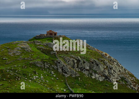 Landscape around Torr head, A Northern Ireland's attraction located on country of antrim near Ballycastle. - Stock Photo