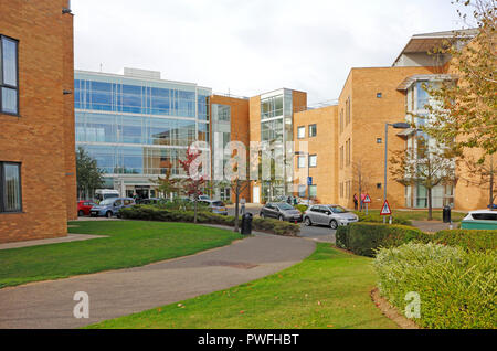 A view of the East Block of the Norfolk and Norwich University Hospital, Norwich, Norfolk, England, United Kingdom, Europe. - Stock Photo