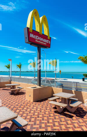 McDonald's restaurant in Key West, Florida, USA. It is the southernmost McDonald's in the USA. - Stock Photo