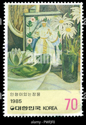 Postage stamp from South Korea in the  series issued in - Stock Photo
