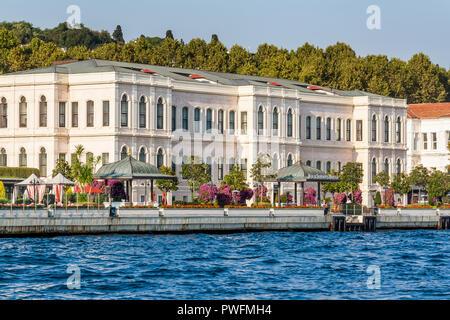 Istanbul, Turkey, October 8, 2011: Four Seasons Hotel on the banks of the Bosporus. - Stock Photo