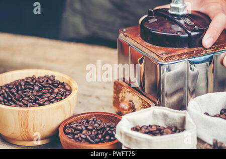 Wooden Coffee Mill Mocha Mill Work Stock Photo 278662732 Alamy