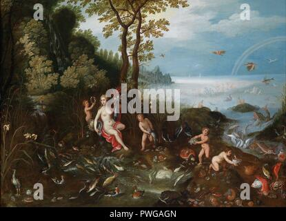 Jan Brueghel II, Jan van Balen - Allegory of Water. - Stock Photo
