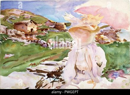 In the Simplon Pass - John Singer Sargent. - Stock Photo