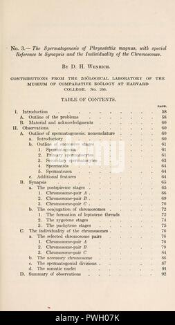 Bulletin of the Museum of Comparative Zoology at Harvard College - Stock Photo