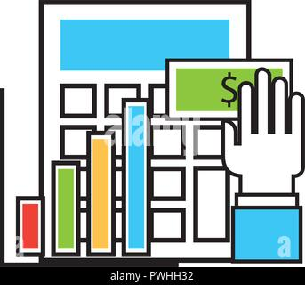 financial business set icons vector illustration design - Stock Photo