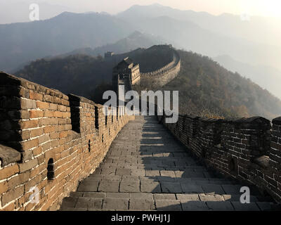 The amazing Great Wall of China at Mutianyu - Stock Photo