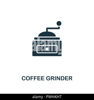 Coffee Grinder icon. Premium style design from coffe shop collection. UX and UI. Pixel perfect coffee grinder icon. For web design, apps, software, pr - Stock Photo