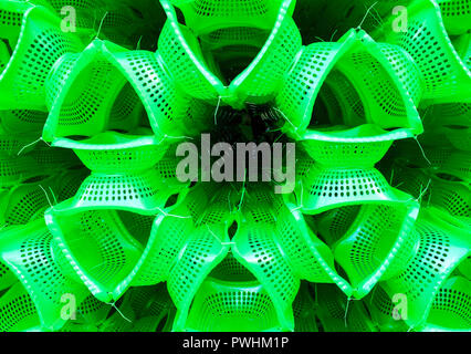 Abstract bright green pattern - Stock Photo
