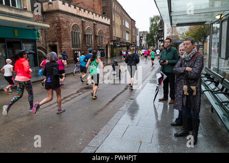 exeter great west run,exeter's great west run,the heart of Exeter.,running calendar. half marathon ,traffic-free roads,,sprinting, sprint, racing,'mar - Stock Photo