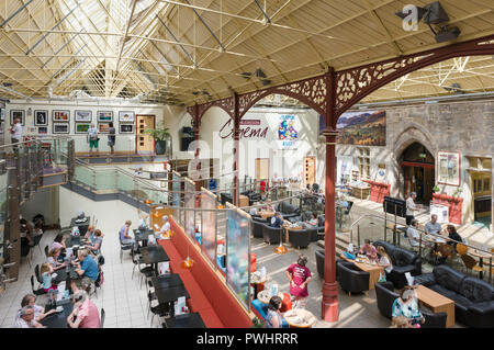 The Station art gallery cafe and entertainment venue in Richmond North Yorkshire - Stock Photo