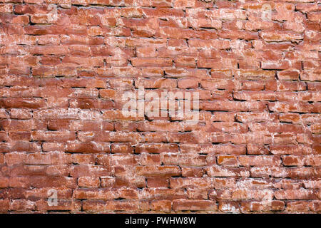 old red brick wall. the grunge background - Stock Photo