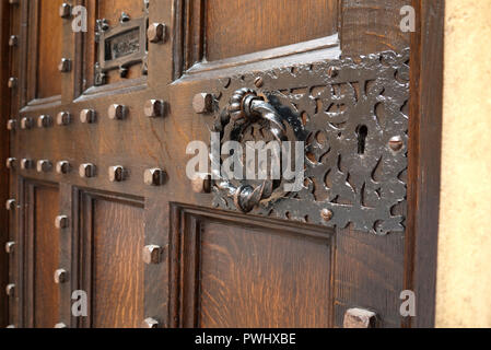 Front door to the Speaker's House official residence of the Speaker of the House of Commons, Houses of Parliament, Westminster, London, United Kingdom - Stock Photo