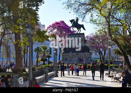 Plaza San Martín square in Córdoba - Argentina - Stock Photo