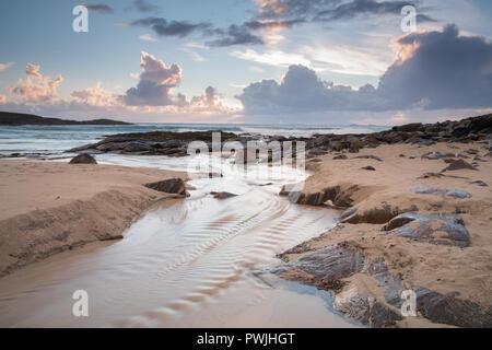 Hosta Beach, North Uist, Outer Hebrides, Scotland, UK - Stock Photo