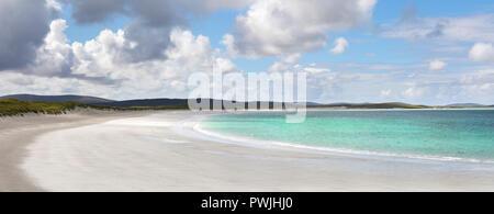 Traigh Hornais beach, North Uist, Outer Hebrides, Scotland, UK - Stock Photo