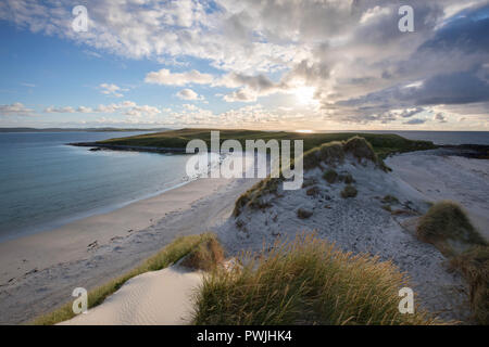 Traigh Iar beach, North Uist, Outer Hebrides, Scotland, UK - Stock Photo