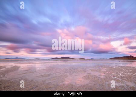Traigh Ear beach, North Uist, Outer Hebrides, Scotland - Stock Photo