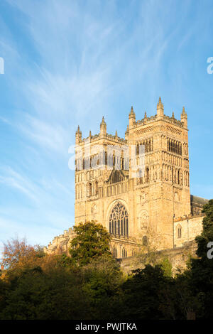 The west towers of Durham cathedral, Durham City, Co, Durham, England, UK - Stock Photo
