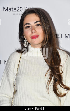 London, UK. 16th Oct 2018. Huawei - VIP celebration at One Marylebone London, UK. 16 October 2018. Credit: Picture Capital/Alamy Live News - Stock Photo