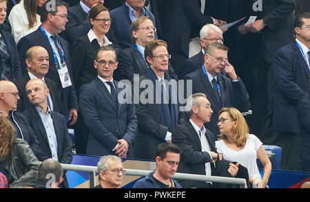Paris, France. 16th Oct 2018. France  - Germany, Soccer, Paris, October 16, 2018 Germanys foreign minister Heiko MAAS, Reinhard GRINDEL,  DFB President German Football Association,  FRANCE  - GERMANY 2-1 Football Nations League, Season 2018/2019,  October 16, 2018  Paris, Germany. © Peter Schatz / Alamy Live News - Stock Photo