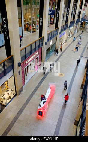 grand arcade, shopping mall interior, cambridge, england - Stock Photo