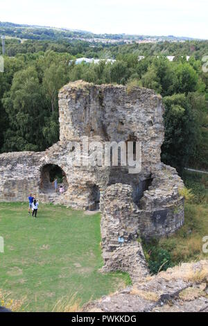 Flint castle North Wales - Stock Photo