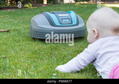 A baby in danger - Stock Photo