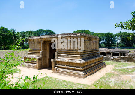Entrance to the Underground Shiva Temple in Hampi, Karnataka, India. - Stock Photo