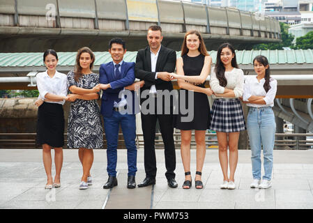 Business teamwork join hands together. - Stock Photo