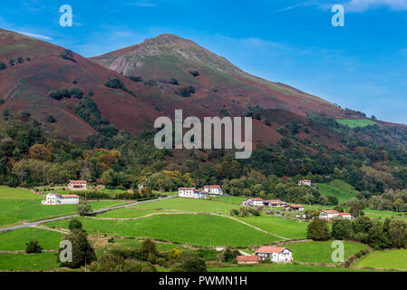 Spain, Navarre, Baztan valley, Amaiur, landscape (Way of Saint James) - Stock Photo