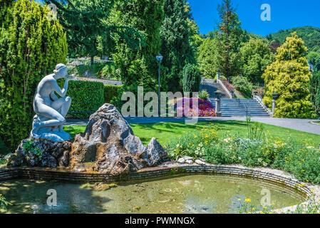 France, Occitanie region, Hautes-Pyrenees, spa town of Bagneres-de-Bigorre, public park - Stock Photo