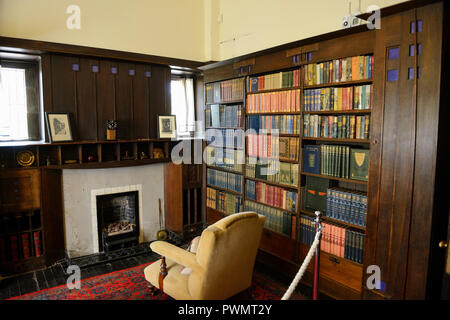 Interior of The Hill House in Helensburgh, Scotland, designed by Charles Rennie Mackintosh for Glasgow book publisher Walter Blackie - Stock Photo