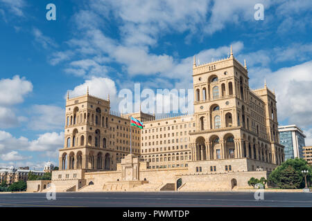 Government House in Baku city, Azerbaijan Republic - Stock Photo