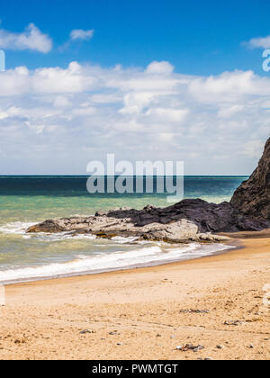 Tresaith beach on the Welsh coast in Ceredigion. - Stock Photo